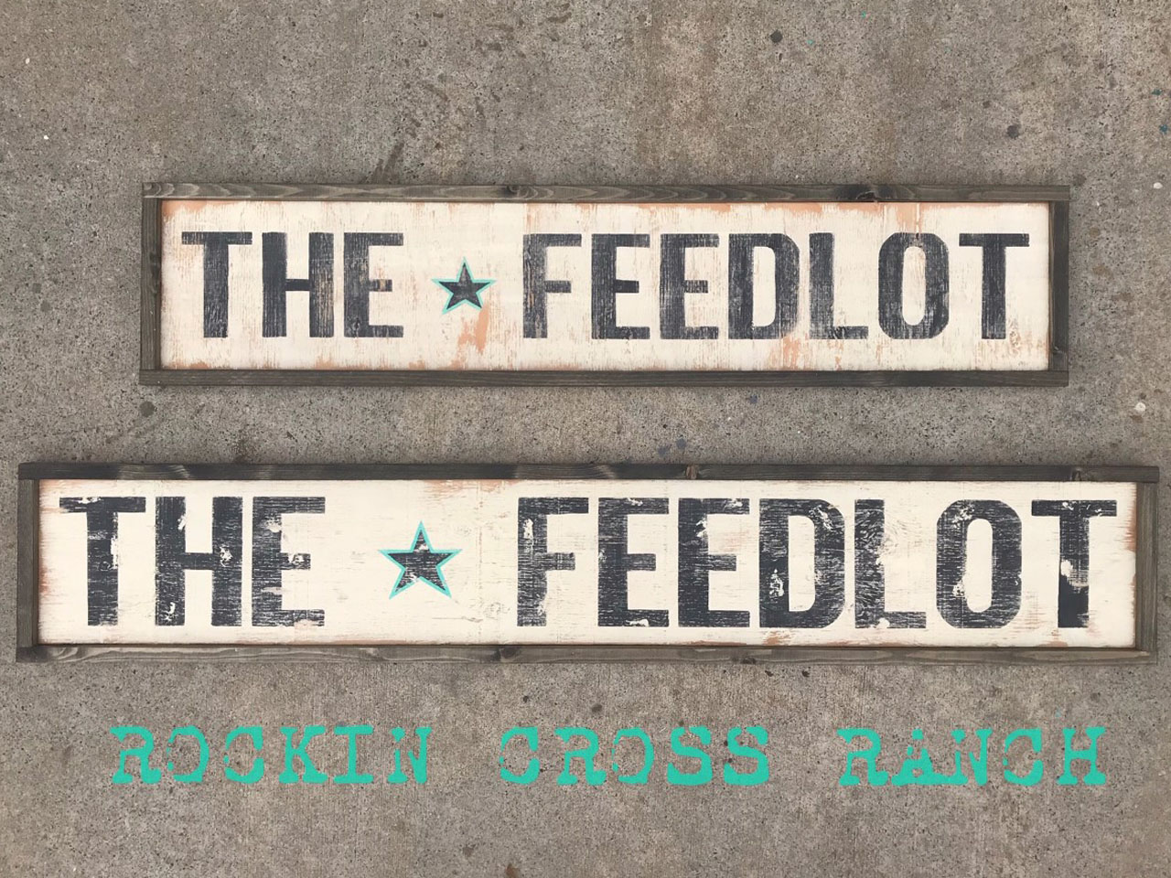 word art the feedlot black frame