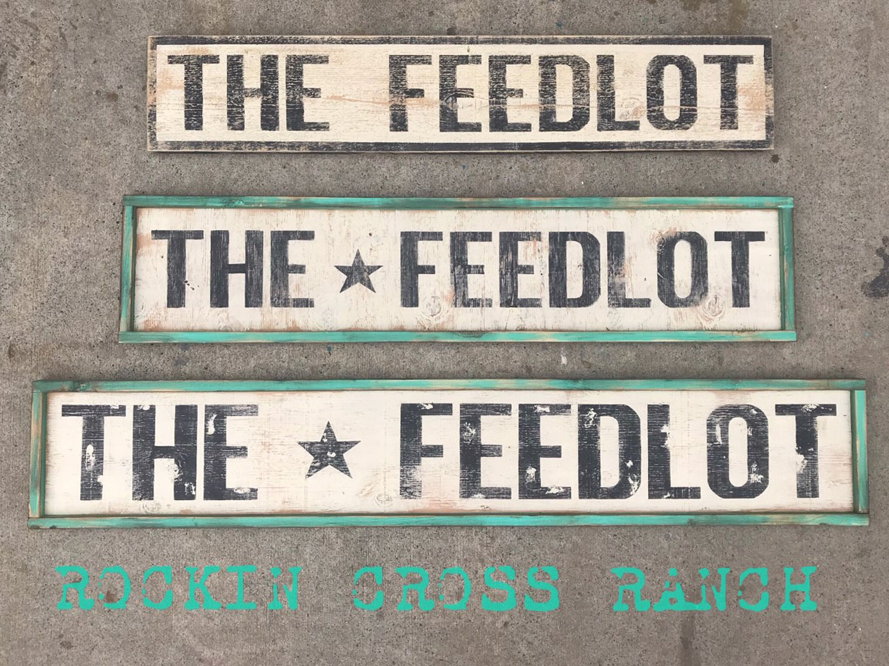 word art the feedlot green frame