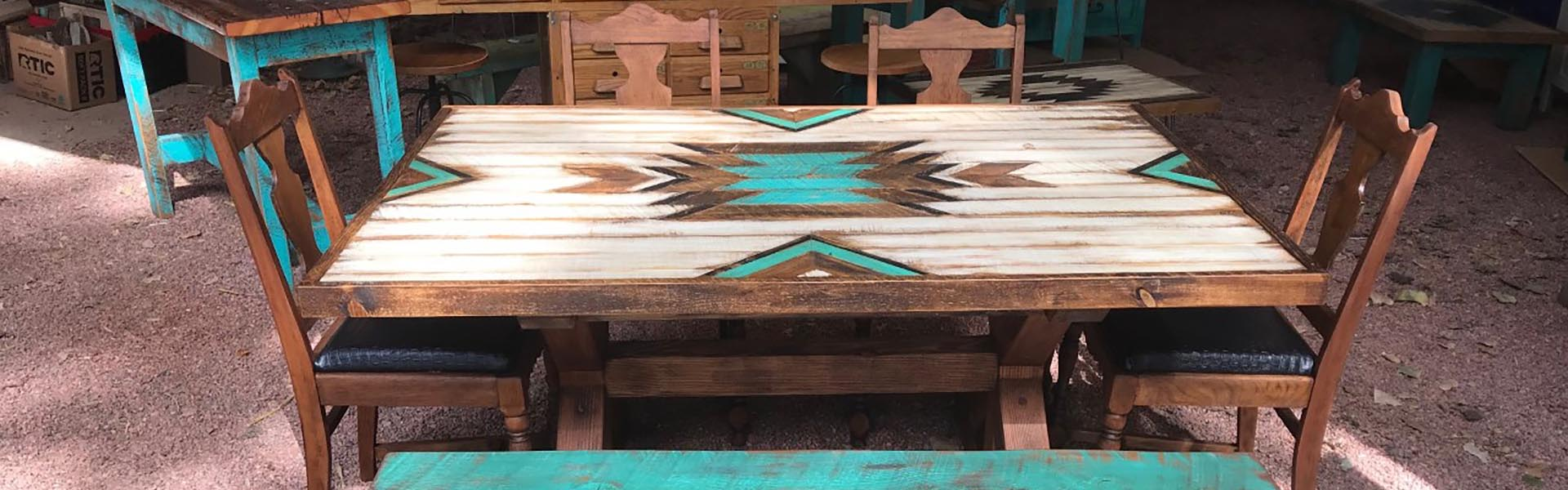 Handmade Custom Dining Room Table Rockin Cross Ranch